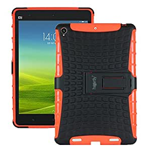 Heartly Flip Kick Stand Spider Hard Dual Rugged Armor Hybrid Bumper Back Case Cover For Xiaomi Miui Mi Pad 7.9 - Mobile Orange