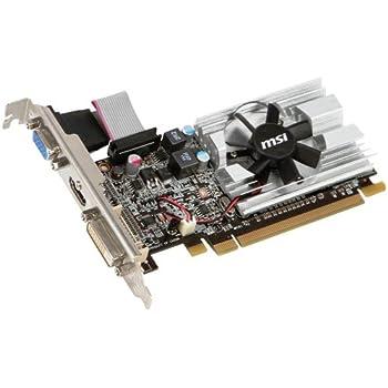 MSI R6450-MD1GD3 AMD Radeon HD 6450 - Tarjeta gráfica (PCI-e, Memoria de 1024 MB GDDR3, VGA, 1 GPU)