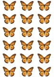 18 Orange Monarch edible butterfly cup cake topper decorations by Topped Off - (FREE UK SHIPPING)