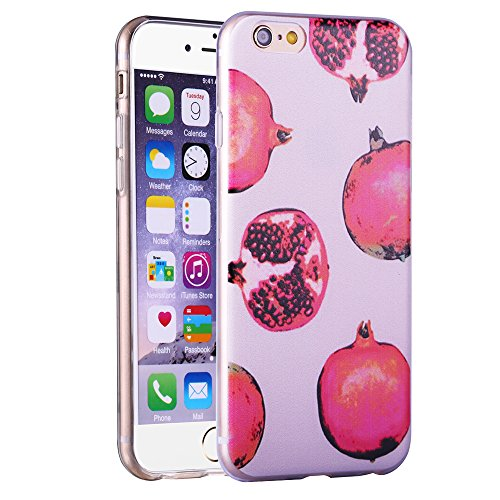 "iPhone 6/6S Coque Gel Souple solide avec impression fantaisie pour Apple iPhone 6/6S (4,7"")(Mountainstree) omegranate"