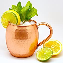 AIA Hammered Copper Moscow Mule Beer Mug Cup, Barware, Best For Parties, 475 ML | 16 OUNCE