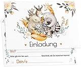 12 Einladungskarten Boho Freunde Kindergeburtstag Kinder Party Geburtstag-Einladungen zum ausfüllen (Jungen/Mädchen)