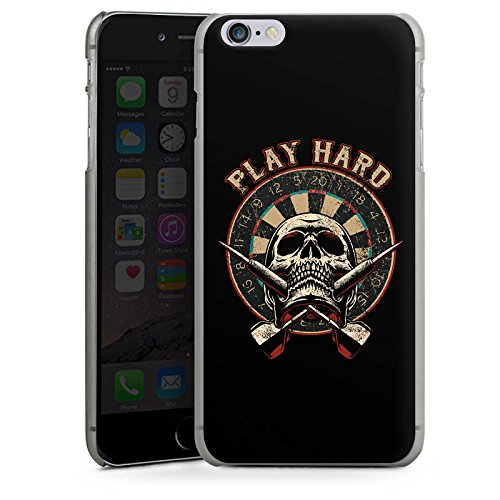 Apple iPhone X Silikon Hülle Case Schutzhülle Dart Totenkopf Play Hard Hard Case anthrazit-klar