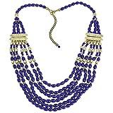 ShalinIndia Indian Fashion Jewellery Blue Bib Beaded Statement Necklace for Women
