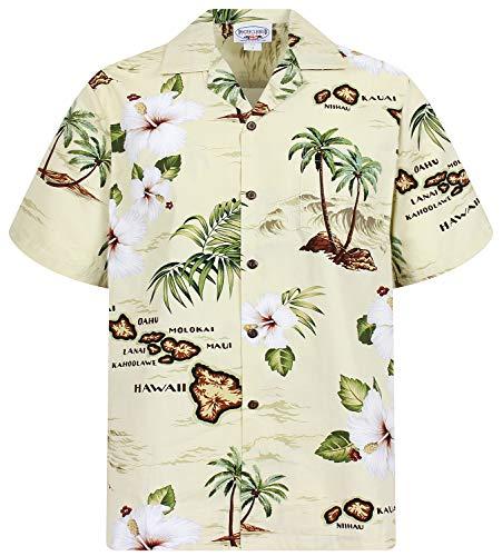 Plus Disco Kostüm - P.L.A. Pacific Legend Original Hawaiihemd, Kurzarm,
