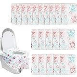 Dadabig 20 Pezzi Grande Copriwater USA e Getta per WC per Adulti e Bambini Coprisedile per Toilette Pubblico e di Casa,(60 * 65cm)