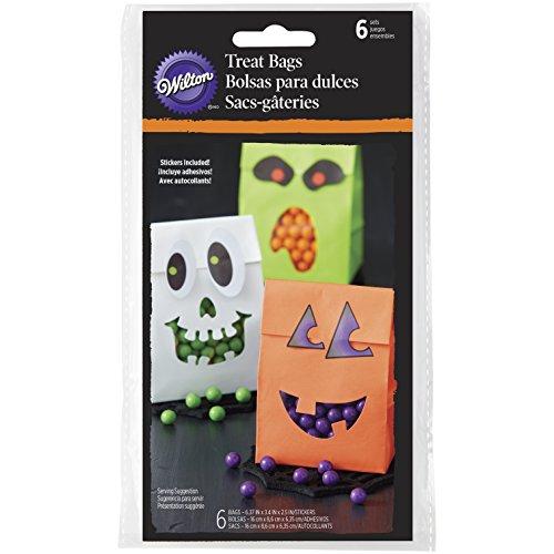 Wilton Halloween Tüten mit Aufkleber, Mehrfarbig, 6Stück