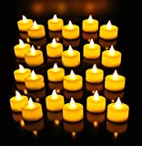 #10: EIN SOF Flameless LED Tealights, Smokeless Plastic Decorative Candles (Yellow Light, Pack of 24)