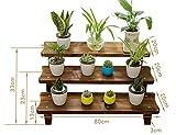 Pflanzenregale ZCJB Balkon Wohnzimmer Antiseptische Holz Multilayer Sukkulenten Blumen Regal Echtholz Floorstanding Single Layer (größe : 80cm)