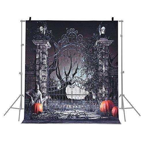 .1 * 1.5m Halloween Hintergrund Fotografie Hintergrund Dekoration Kürbis Muster für DSLR Kamera Foto Studio (Kürbisse Halloween-hintergrund)