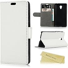 Meizu M2 Mini Funda Libro de PU Leather Cuero - Mavis's Diary Funda para móvil Carcasa Con Flip case cover,Cierre Magnético,Función de Soporte,Billetera con Tapa para Tarjetas-Color de blanco