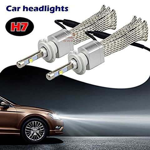 sweon 280W 4800LM H7Cree xhp-50Kit voiture phare LED Ampoule xénon blanc 6000K Lampe H1H3H4H11H1390049005900690079012