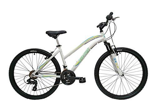 Discovery DP074 – Bicicleta Montaña Mountainbike 26″ B.T.T. Cuadro de Aluminio. Cambio Shimano TX30, 18 Velocidades, con amortiguación – para mujer