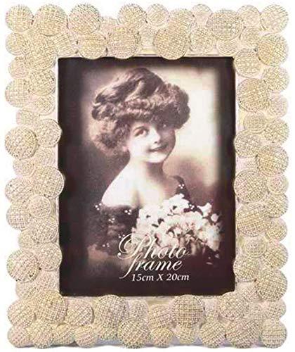 Marco de fotos barroco dorado bronce envejecido nuevo diseño retro de flores de fotos marco de...