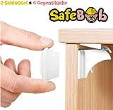 SafeBob Magnetische Kinder-Sicherung für Schubladen und Schranktüren - ohne Bohren - Ersatzschlüssel