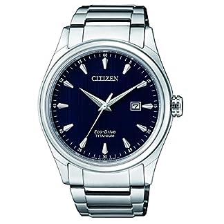 Citizen Reloj Análogo clásico para Hombre de Energía Solar con Correa en Titanio BM7360-82L