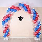 NW 1776 Ballon Bögen Lösungen Luxus Aluminium Folienballons Latex Luftballons 11,8 Fuß hoch 16,4 Fuß breit einstellbar (Latex Ballons Bögen Anzug)