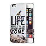 Cycling End Of Comfort Zone Quote Apple iPhone 6 / iPhone 6S SnapOn Hard Plastic Phone Protective Fall Handyhülle Case Cover