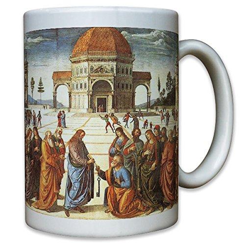 Papst Petrus Vater Oberhaupt Schlüssel Himmelreich Jesus Christen Religion Katholisch Kirche Vatikan Gemälde Portrait Bild - Tasse Kaffee Becher #10741