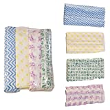 #2: Rio Pure Cotton Baby Cloth Swaddle - 0-12 Months - Multi Color Pack of 4 breathable fabric