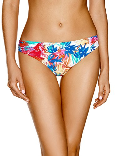 oodji Ultra Damen Bikinihose mit Sommerdruck, Violett, DE 36 / EU 38 / S