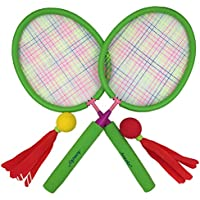 Aoneky Badminton Racket Set for Kids, Hot Outdoor Toys for Children Above 3 Years Old, Best Gifts for Girls, Green