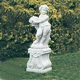 Putte Gartenfigur aus Betonwerkstein Steinfiguren Garten-Statue Dekofigur Gartenskulptur