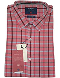 Turtle Men's Casual Checked Full Sleeves Shirt