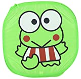 FirstVibe Nylon Square Printed Laundry Bag (50 cm x 45 cm x 45 cm, Green)
