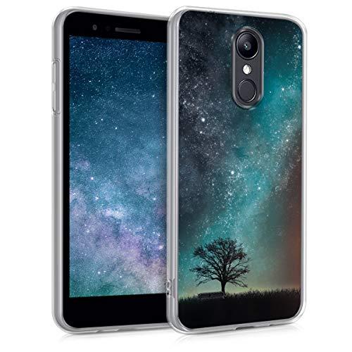 kwmobile LG K8 (2018) / K9 Hülle - Handyhülle für LG K8 (2018) / K9 - Handy Case in Blau Grau Schwarz