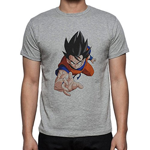 Dragon Ball Z Goku Angry Look Herren T-Shirt Grau
