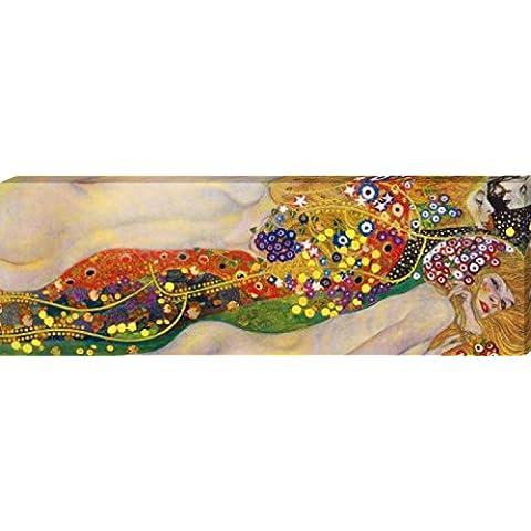Gustav Klimt - Serpientes De Agua II, 1904 - 1907 Cuadro, Lienzo Montado Sobre Bastidor (150 x