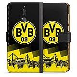 DeinDesign Huawei Mate 10 lite Tasche Leder Flip Case Hülle BVB Logo Borussia Dortmund