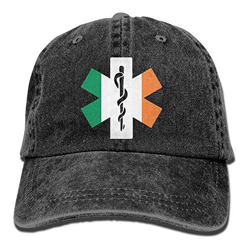 Voxpkrs Flag of Ireland EMT Unisex Baseball Cap Cowboy Hat Dad Hats Trucker Hat ABCDE09336 -
