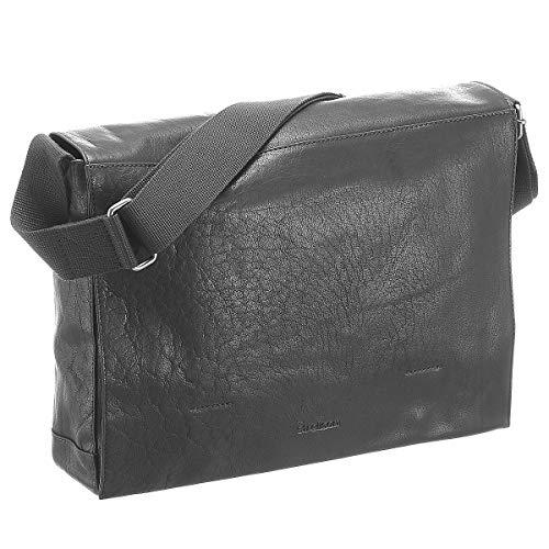 Strellson Coleman 2.0 Messenger LHF 39 cm Black (Herren Messenger Bag Leder Schwarz)
