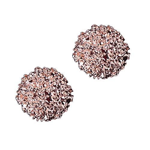 Provide The Best Frauen-Metallknopf-Form-Ohrringe Kleiner Vintage-Ohr-Klipp-Pin-Bolzen-Ohr Jacke Spike Schmuck