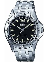 CASIO MTP1258D1AEF - Reloj de caballero de cuarzo, correa de acero inoxidable color