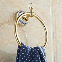 LHbox Tap Anillo de Acero Inoxidable Toalla de Baño Toallas Toallas de baño Antiguo Muro,