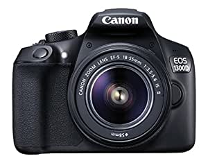 Canon EOS 1300D 18-55 18 MP Digital SLR Camera (Black) with 18-55mm ISII Lens + 16GB Card and Carry Case