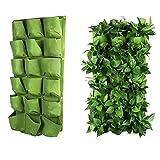 18 Pocket Outdoor Vertikale Greening Wall Mounted Gartenpflanze Wachsen Taschen