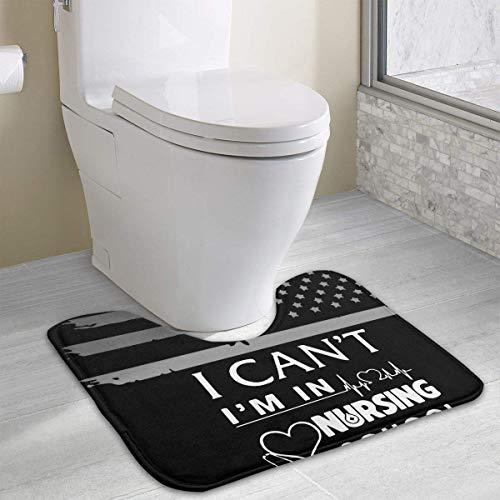 Hoklcvd Ich kann Nicht ich Bin in der Krankenpflegeschule Krankenschwester U-förmige Toilette Bodenteppich Rutschfeste Toilette Teppiche Duschmatte