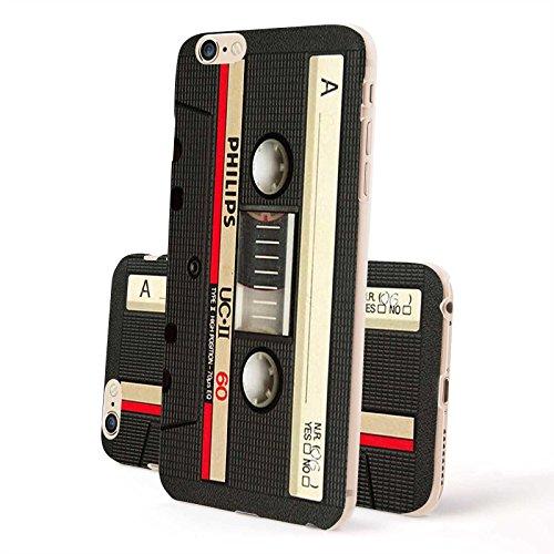 4-punkt-dual-link (FINOO ® | Iphone 6 / 6S Plus Hardcase Handy-Hülle | Transparente Hart-Back Cover Schale mit Motiv Muster | Tasche Case mit Ultra Slim Rundum-schutz | stoßfestes dünnes Bumper Etui | Kassette schwarz)