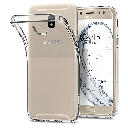 Samsung Galaxy J5 2017 Duos Hülle, Spigen® [Liquid Crystal] Soft Flex Silikon [Crystal Clear] Transparant Ultra Dünn TPU Samsung Galaxy J5 2017 Case  Crystal Clear 584CS21801