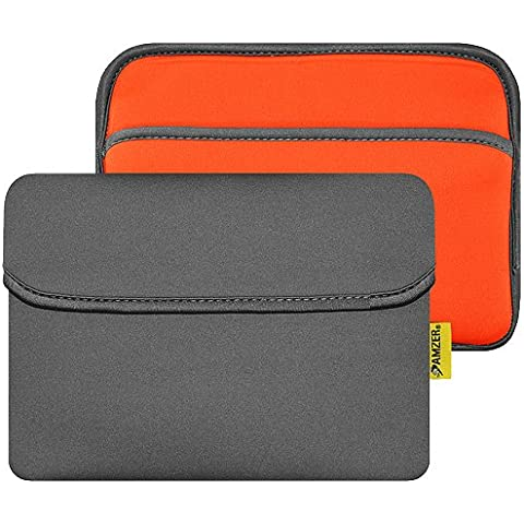 Amzer - Funda horizontal de neopreno con bolsillo para Apple iPad Mini, Nexus 7, Kindle Fire, Galaxy Tab (hasta 8