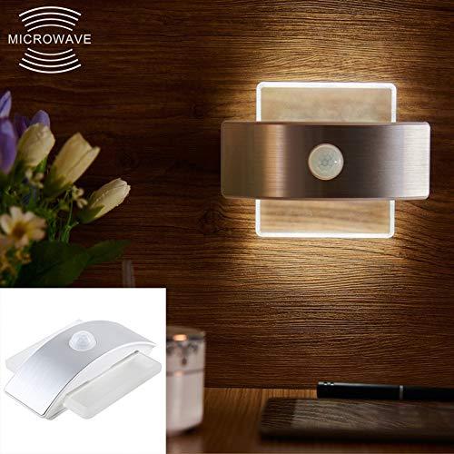 XY-M Perline Piazza Creativo Umano Induzione Luce di Notte 14 SMD Lampada 120 Gradi Che Emettono Angolo Distanza di Rilevamento della Luce: 3-5 Metri (Colore: Luce Bianca Calda)