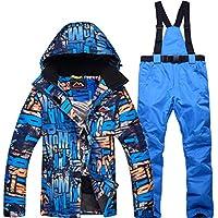 Jiuyizhe Chaqueta de esquí Impermeable para Mujer Rain Snow Pants Ski Set (Color : 02, Size : M)