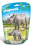 Playmobil 6638 City Life Zoo Rhino With Baby(Multi Color)