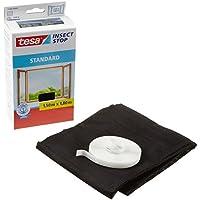 tesa® Insect Stop Fliegengitter STANDARD für Fenster, nahezu durchsichtig (1,50 m x 1,80 m / 2er Pack, anthrazit)