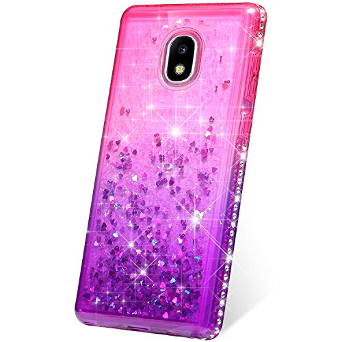Phezen Coque pour Samsung Galaxy J7 2018, Galaxy J7 Refine Case, Galaxy J7 Star Case, J7 Crown Case, J7 Aura Gradient Pink Purple