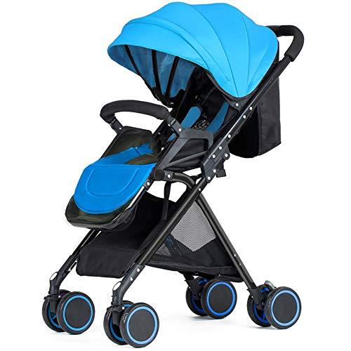 Guo@ Baby Buggy Ultralight Portable Pliable Infantile Buggy 0/1-3 Ans Support en Alliage d'aluminium Enfant Simple Poussette (Couleur : Bleu)